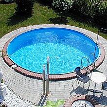 Stahlwandbecken 2,50x0,90m Einzelbecken Schwimmbecken rundform Pool