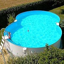 Stahlwandbecken 5,00x8,55x1,50m Einzelbecken Schwimmbecken achtform Pool