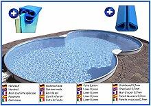 Stahlwandbecken 8-form 3,20m x 5,25m x 1,50m Folie 0,6mm ohne Filter Pool Pools Achtformbecken Achtformpool