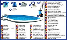 Stahlwandbecken Mega Set oval 3,20m x 5,30m x 1,50m Folie 0,6mm Pool Pools Ovalbecken Ovalpool