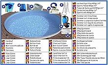 Stahlwandbecken Mega Set rund 3,00m x 1,20m Folie 0,6mm Pool Pools Rundbecken Rundpool