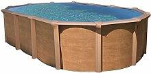 Stahlwandbecken,N de L. S, Wood, Schwimmbecken 610 x 370 x 130 cm; Komplettse