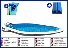 Stahlwandbecken oval 3,60m x 7,37m x 1,20m Folie 0,8mm ohne Filter Pool Pools Ovalbecken Ovalpool
