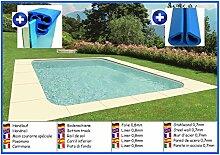 Stahlwandbecken rechteck 3,50m x 7,00m x 1,50m Folie 0,8mm ohne Filter Pool Pools Rechteckbecken Rechteckpool