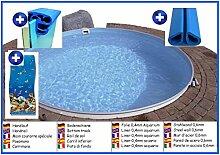 Stahlwandbecken rund 3,50m x 0,90m Folie 0,4mm Aquariumoptik ohne Filter Pool Pools Rundbecken Rundpool