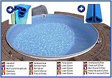 Stahlwandbecken rund 4,20m x 1,50m Folie 0,6mm ohne Filter Pool Pools Rundbecken Rundpool