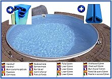 Stahlwandbecken rund 5,50m x 1,20m Folie 0,6mm ohne Filter Pool Pools Rundbecken Rundpool