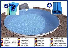 Stahlwandbecken rund 8,00m x 1,20m Folie 0,8mm ohne Filter Pool Pools Rundbecken Rundpool