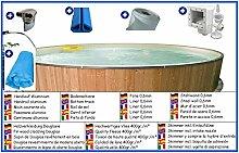 Stahlwandbecken Spar Set rund 1,50m x 0,90m Folie 0,6mm mit Holzverkleidung aus Douglasie Pool Pools Rundbecken Rundpool