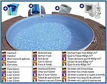 Stahlwandbecken Spar Set rund 4,00m x 1,20m Folie 0,6mm Pool Pools Rundbecken Rundpool
