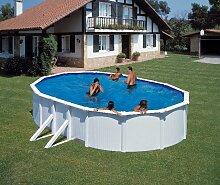 Stahlwandpool Schwimmbad 730x375cm