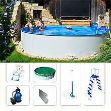 Stahlwandpool Set Fun-Zon 5,50 x 1,20m Stahlwandpoolset/ Gartenpool/ Aufstellpool