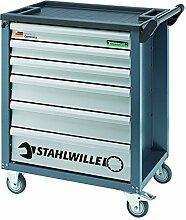 Stahlwille 98830083 Werkzeugwagen/ Werkstattwagen - Set 90/131QR Beinhaltet Werkstattwagen Nummer 90 und 131 Premium Werkzeuge, Quickrelease-Feinzahnknarren, 132-teilig
