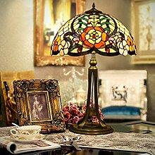 Stained Glass Dekorative Lampe/Wohnzimmerlampe/Coffeeshop,Restaurant,Amerikanischen,Retro,Mosaik Glaslampe-A