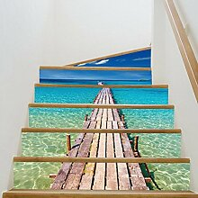 Stair Sticker Wandaufkleber DIY 3D Beach