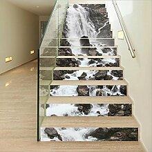 Stair Sticker Wandaufkleber DIY 3D Wasserfall