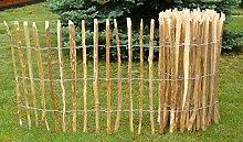 Staketenzaun Haselnuss H 60 cm Länge 5 m Naturzaun Lattenzaun Zaun