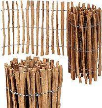 Staketenzaun Imprägniert Holzzaun Staketen Zaun H-60cm Abstand 7/8cm Länge 10m
