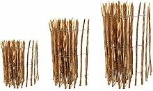 Staketenzaun Kastanie 120 x 500 cm ( Lattenabstand 7-9 cm ) - Kastanienzaun Natur - Staketen Roll Zaun aus Haselnuss ++ Kostenloser Versand ++