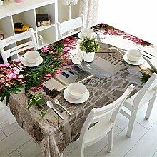 Stale 3D Tischdecke Europa Blume Wand Muster