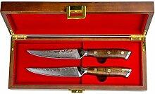 Stallion Damastmesser Ironwood Zwei Steakmesser -