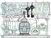 Stampavie Garten Regal Penny Johnson Stempel, transparen