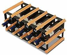 Stand-Alone-Weinregal aus Holz, stapelbarer