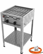 Stand Gastro Edelstahl Gasbräter 2 flammig 9,0 KW