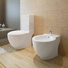 Stand-Toilette/WC+Soft WC Sitz+Stand-Bidet
