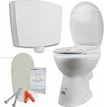 Stand WC Flachspüler mit Spülkasten WC-Sitz mit