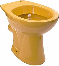 Stand-WC | Tiefspüler | Abgang waagerecht | Curry | Orange | Toilette | Klo | WC | Farbig | Bad | Badezimmer | Gäste-WC | Keramik