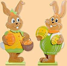 Standbild Hase aus Holz 60cm als Dekoration für Ostern, Preis für 1 Stück