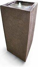 Standbrunnen, 6 LED's, grau, ca. L30,5 x B30,5 x H71 cm