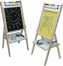 Standkindertafel 89x40cm farbig Papier Abakus Schultafel Kindertafel Standtafel Maltafel (gelb)