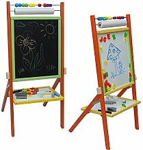 Standkindertafel 89x40cm Magnettafel Kindertafel Abakus Standtafel Schultafel Maltafel
