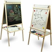 Standkindertafel Papierrolle Schreibtafel Maltafel Kindertafel Standtafel Holz