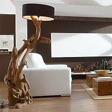 Standlampe Holz Teak RIAZ XL 200cm | Lampe aus