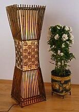 Standleuchte aus Bambus und Rattan, Stehlampe asiatische Designerlampe Wohnzimmerlampe