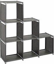 Standregal Lagerregal Regale für Bücher,2 x 5 Ebenen mehr Raum Aufbewahrungregal Bücherregal, Silber, ca.105x30x107cm,RGB9266sb
