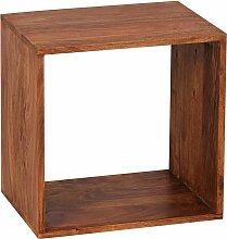 Standregal Massivholz Sheesham 43,5 cm Cube Regal