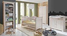 Standregal Nela Babyregale weiß mit Holzstruktur