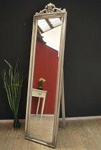 Standspiegel 180 cm Spiegel antik Silber barock