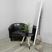 Standspiegel 30x150cm Weiß Ganzkörperspiegel Ankleidespiegel Garderobenspiegel Flurspiegel