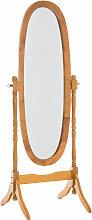 Standspiegel Cora oval-eiche