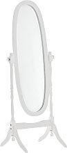 Standspiegel Cora oval-weiß