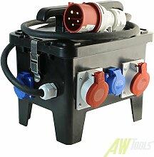 Standstromverteiler 3 x 230V / 3x CEE16A/400V+ 1xCEE32A/400V + 2m Anschlusskabel