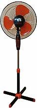 Standtventilator Ventilator Windmaschine Lüfter 40 cm Ø Oszilliere schwarz/orange