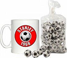 Stanley 1968Design 10oz Becher mit 200g Beutel Vereitelt Schokolade Fußbälle