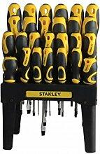 Stanley Schraubendreher-Set, 26-teilig + Ständer/Wandhalter, schwarz/gelb