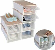 Stapelbar Schuhbox Set 6er Schuhboxen